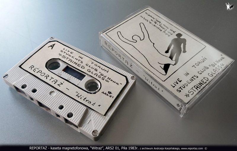 REPORTAŻ - kaseta magnetofonowa, Witraż, ARS2 01, Pila 1983r. z archiwum Andrzeja Karpinskiego