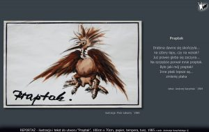"tekst i ilustracja do utworu ""Praptak"""