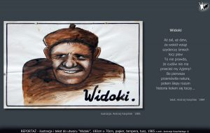 "tekst i ilustracja do utworu ""Widoki"""