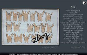 """tekst i ilustracja do utworu """"Zbieg"""""""