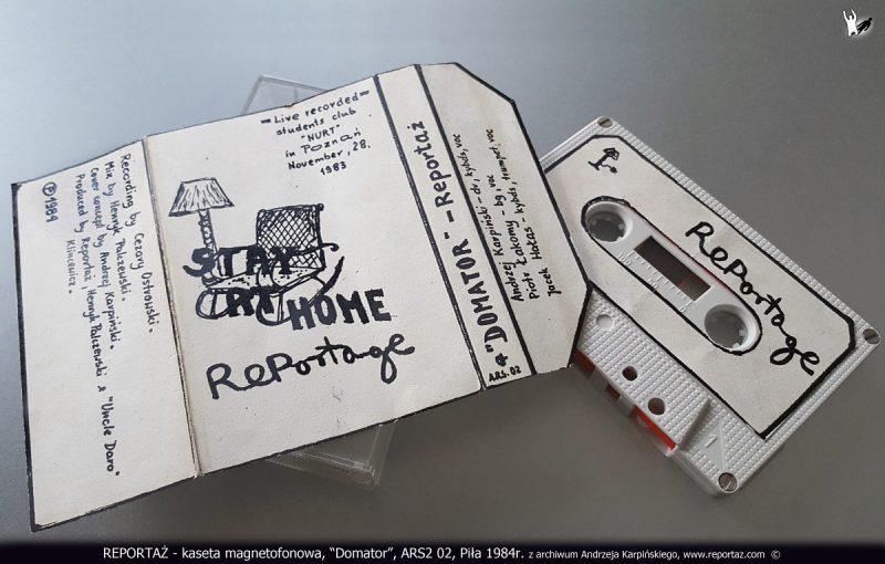 REPORTAZ - kaseta magnetofonowa, Domator, ARS2 02, Pila 1984r. z archiwum Andrzeja Karpinskiego
