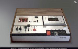 magnetofon kasetowy Unitra M531S, na który nagrano koncert Domator