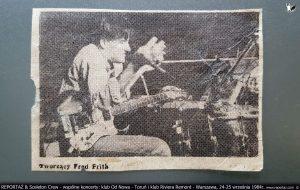 1984 koncert Reportaz Sceleton Crew Fron Rock 1 Muzyka Potrzebna Torun i Warszaw