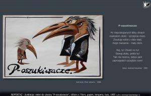 """tekst i ilustracja do utworu """"P-oszukiwacze"""""""