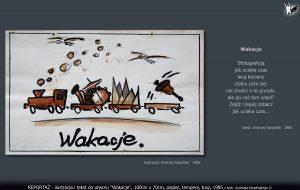 """tekst i ilustracja do utworu """"Wakacje"""""""