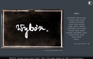 """tekst i ilustracja do utworu """"Wybór"""""""