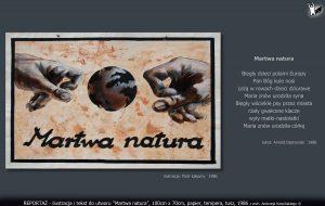 "tekst i ilustracja do utworu ""Martwa natura"""