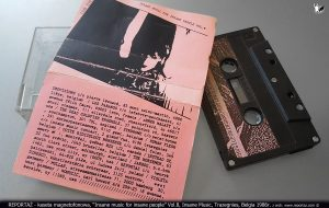 Reportaż kaseta Insane music for insane people Vol.8, Insane Music, Trazegnies, Belgia 1986