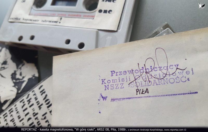 REPORTAŻ - kaseta magnetofonowa, W górę rzeki, ARS2 08, Piła, 1988, z archiwum Andrzeja Karpińskiego