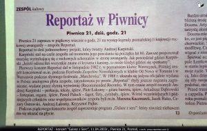Reportaż, Gulasz z Serc, Piwnica 21, Poznań 2003