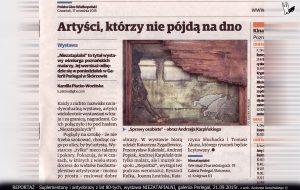 """antyobraz do tekstu """"Kopia"""" 1987 na wystawie w 2015r."""