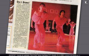 """Iwona Pasińska """"Gra 1 Czas"""", Andrzej Karpiński, Reportaż muzyka 2002"""
