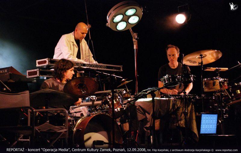 REPORTAZ koncert Operacja Media, Centrum Kultury Zamek, Poznan, 12.09.2008 z archiwum Andrzeja Karpinskiego