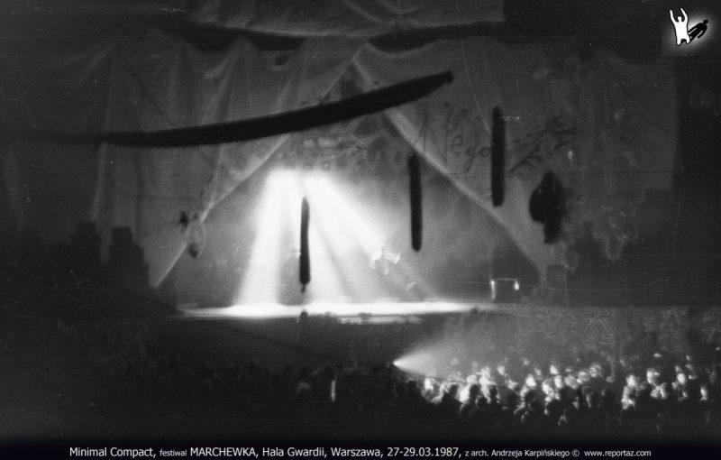 Koncert Minimal Compact, festiwal MARCHEWKA, Hala Gwardii, Warszawa, 27-29.03.1987, z arch. Andrzeja Karpińskiego