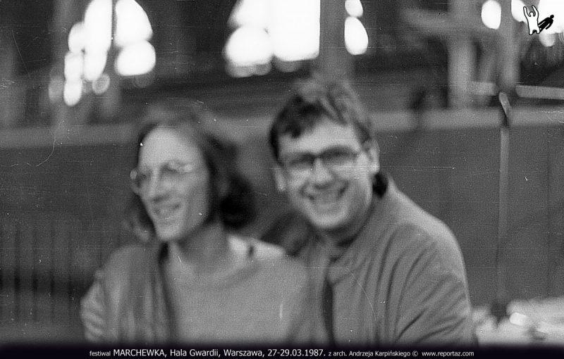 Festiwal MARCHEWKA, Hala Gwardii, Warszawa, 27-29.03.1987, z arch. Andrzeja Karpińskiego