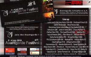 Reportaz, koncert Bezsensory na Avantgarde Festival Schiphorst 2010