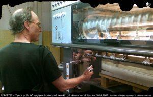 Andrzej Karpiński & Chris Cutler nagrania dźwięku drukarni do Operacja Media, 2008