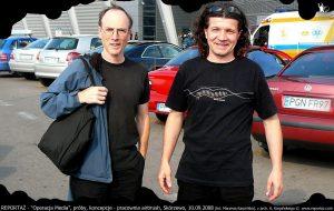 Chris Cutler i Andrzej Karpiński, lotnisko Ławica, Poznań 2008