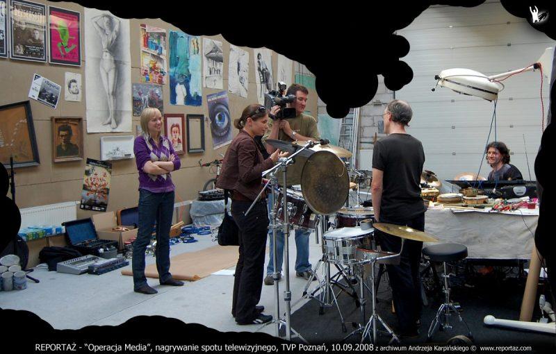 REPORTAŻ Operacja Media, nagrywanie spotu telewizyjnego, TVP Poznan, 10.09.2008 z archiwum Andrzeja Karpinskiego