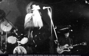 SOCREALIZM - koncert z jugosłowiańskim Šarlo Akrobata, Poznań, kino Kosmos, 18.10.1981