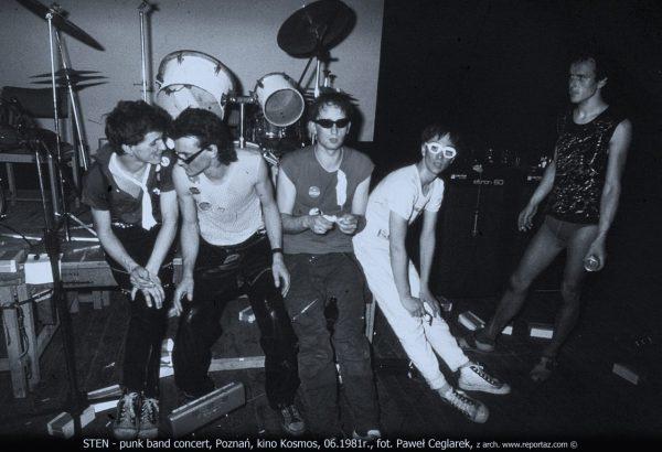 Korzenie Reportażu - punkrockowy zespół Sten i nowofalowy Socrealizm 1979-1982.