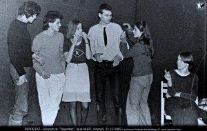 koncert Reportaż, klub Nurt, Poznań 1982