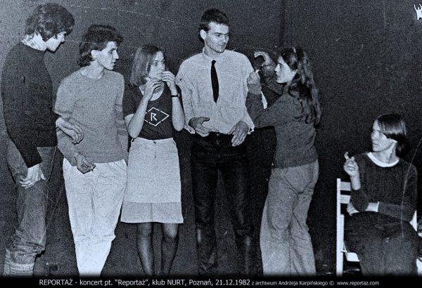 Reportaż, klub Nurt, Poznań 1982.