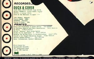 Re Records Quarterly Vol.1 No.2 Recommended Records Re 0102 Londyn 1985