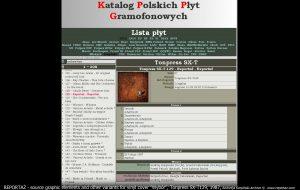 Katalog Polskich Płyt Gramofonowych Reportaż Tonpress SX-T-129