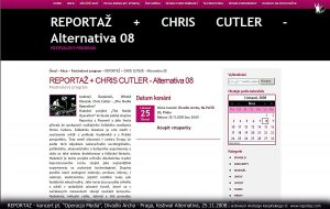 Reportaz & Chris Cutler, Divadlo Archa, The Media Operation, Praga 2008