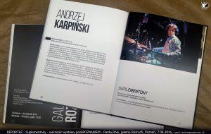 recital Suplementony, Andrzej Karpiński katalog Pozapoznaniem, galeria Rozruch Poznań 2016